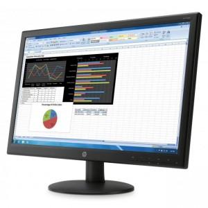 Monitor Uso profesional para la PYME HP V241p de 23.6 pulgadas vista derecha.