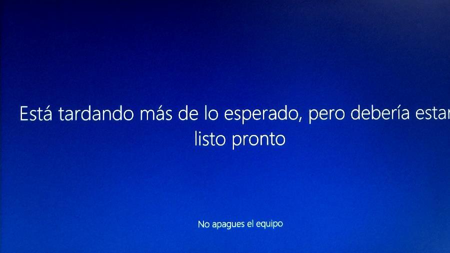 Tardando en configurar aplicaciones en windows10