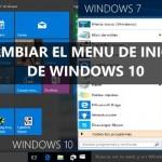 Cambiar menú inicio de Windows 10