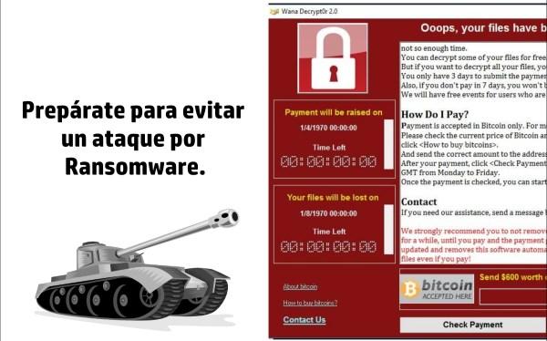 Evitar un ataque ransomware