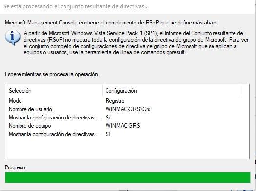 Visor de políticas de grupo de Windows